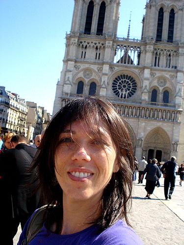 Eu e Catedral de Notredame - Paris